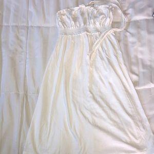 white dress/coverup